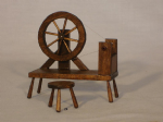 24. Spinning Wheel and Stool
